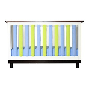 Go Mama Go Wonder Bumpers 2 Piece Crib Bedding Set, Lime/Periwinkle by Go Mama Go