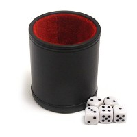 Brybelly gdic-303フェルト裏地付きProfessional Dice Cup with 5ダイス