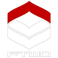 17-18 FTWO CUT-IN STICKER LOGO 大 02-RED×WHITE カットイン ステッカー ロゴ