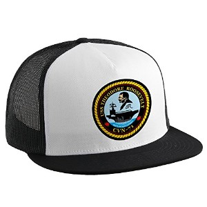 Trucker Hat withアメリカ海軍USS Theodore Roosevelt ( cvn-71)、エンブレム