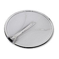 Culinaテつョ Premium 13 Stainless Steel Splatter Screen resting feet with Hinged Folding Handle by...