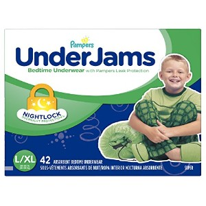 Pampers Underjams Bedtime Underwear Boys,Size Large/X-Large Diapers, 42 Count by Pampers
