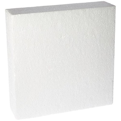 Oasis Supply 747164 Dummy Square Cake, 14 x 14 x 4, White by Oasis Supply