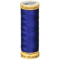 Gutermann 103C-6410 Natural Cotton Thread 110 Yards-Sea Navy