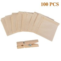 Ilyeverティーインフューザー 100pcs 3.1 x 3.9 Inches Tea Filter Bags IP-11129