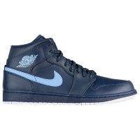 (取寄)ジョーダン メンズ AJ1 ミッド Jordan Men's AJ1 Mid Obsidian University Blue White
