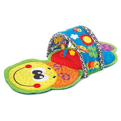 Playgro - Caterpillar Tunnel - Tapis et Tunnel d'Eveil - La Chenille