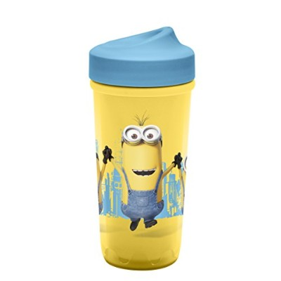 Zak Designs Toddlerific Perfect Flo Toddler Cup with the Minions, Double Wall Insulated Construction...