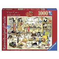 Ravensburger Crazy Cats In The Craft Room Puzzle (1000-Piece)