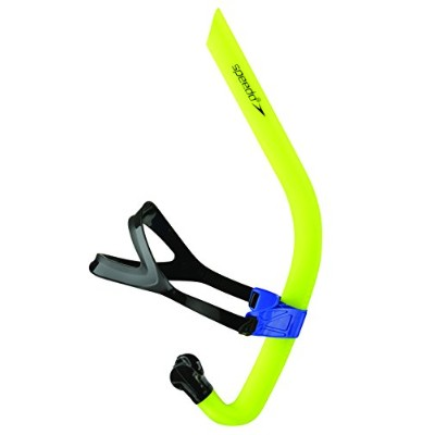 Speedo Tear Drop Design Bullet Head Swimming Performance Snorkel, Shocking Lime