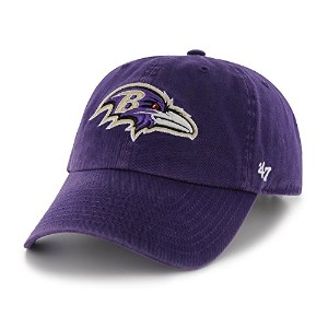 Baltimore Ravens 47 Brand NFL Clean Up Adjustable Hat Chapeau - Purple