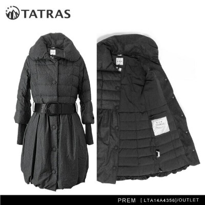 【予約】【アウトレット】【訳あり:ベルト無し】【TATRAS-タトラス-】PREM[LTA14A4356][レディース・ダウン・フーディー・ロング]【返品交換不可】《ご注文後3日前後発送予定》