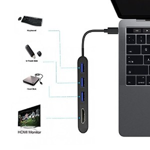 USB Type C Hub; USB Type C To HDMI; USB Type C To USB 3.0 x 3; USB 3.1(タイプC)HDMI 3840 x 2160P @...