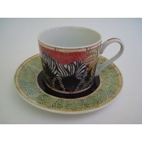 Andrea by Sadekジャングルサファリby Siddhia Hutchinson Coffee Cup and Saucer