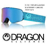 2018 DRAGON ドラゴン ゴーグル GOGGLE NFX2 JAPAN-FIT MILL SILVER LUNALENS