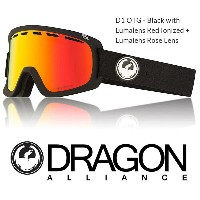 2018 DRAGON ドラゴン ゴーグル GOGGLE D1 OTG JAPAN-FIT BLACK RED LUMALENS