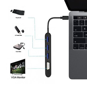 USB Type C Hub; USB Type C To VGA; USB Type C To USB 3.0 x 3; USB 3.1(タイプC)VGA 1920 x 1080P @ 60Hz;...