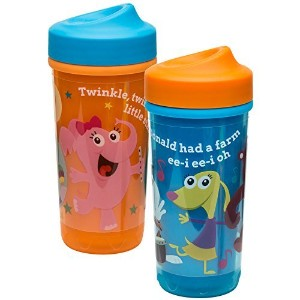 Zak! Designs Baby Genius Toddler Perfect Flo Sippy Cup with Independent Doer Graphics, Double Wall...