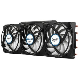 ARCTIC Accelero Xtreme III - High-End Graphics Card Cooler - nVidia & AMD, 3 Quiet 92mm PWM Fans,...