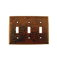 Premier Copper Products ST3 Switchplate - Triple Toggle Switch Cover