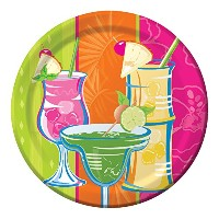 Creative Converting 8 Count Paper Dinner Plates、夏Sippin '