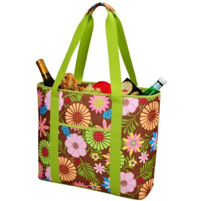 (Floral) - Picnic at Ascot Extra Large Insulated Cooler Bag - 30 Can Tote - Floral