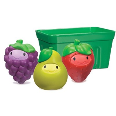 Munchkin Squirtin' Strain Fruit Basket Bath Toy, Grape/Pear/Strawberry by Munchkin