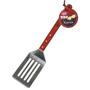 TableCraft BBQSM Stainless Steel Long Handled Turner with Wood Handle, 19-Inch, Silver [並行輸入品]