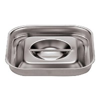 Paderno World Cuisine Stainless-steel 6-1/8-Inch Square Lid for Bain-Marie [並行輸入品]