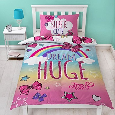Jo Jo Siwa Bows Cute Single Panel Duvet Cover Bed Set