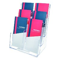 Multi Compartment DocuHolder, 6 Compartments, 9w x 7-1/2d x 13-3/4h, Clear (並行輸入品)
