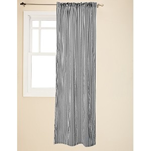 Bacati - Black Pin Stripes Curtain Panel by Bacati