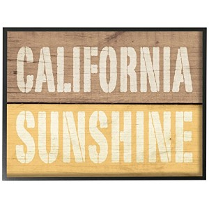 The Stupellホーム飾りコレクションCalifornia Sunshineアンティーク調木製Typography Wall Plaqueアート 11 x 14 cw-1255_fr_11x14