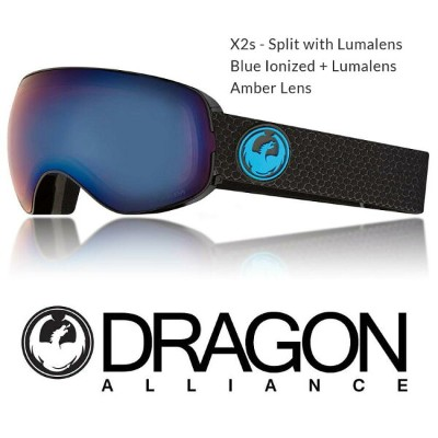 2018 DRAGON ドラゴン ゴーグル GOGGLE X2s JAPAN-FIT SPLIT BLUE LUNALENS
