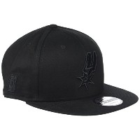 New Era NBA San Antonio Spurs Snapback Black On Black Cap 9fifty 950 M/L M L