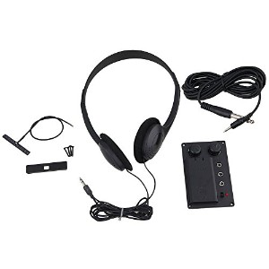Yibuy エレクトリックバイオリン Silent EQピックアップピエゾwith Headphone and Plug Hole Cable Set
