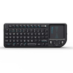 Rii 2015 Mini Wireless 2.4GHz Keyboard with Mouse Touchpad Remote Control, Black (mini X1) for Raspberry pi/HTPC/XBMC/Google and Android TV KP-810-10LL [並行輸入品]