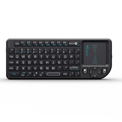 Rii 2015 Mini Wireless 2.4GHz Keyboard with Mouse Touchpad Remote Control, Black (mini X1) for...