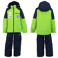 ONYONE(オンヨネ) ジュニア 上下セット スキーウェア Jr.ANDORRA SIDEOPEN SUIT レプリカモデル ONS703S2 333698(LIME×NAVY) 150