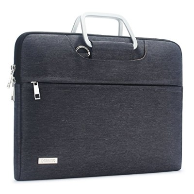 """Domiso防水ショルダーバッグスリーブCarry Case withポリエステル生地and Carryストラップ 13.3"""" Laptops / 13.5"""" Surface Book グレー..."""