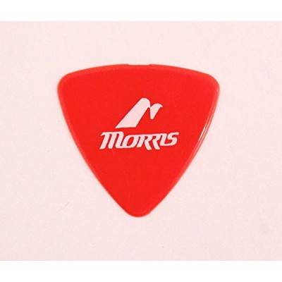 MORRIS DELRIN Red 0.5mm Triangle ギターピック×12枚