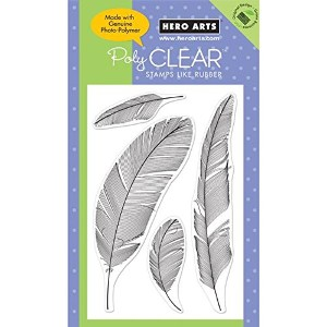 """Hero Arts Clear Stamps 4""""X6"""" Sheet-Feathers (並行輸入品)"""