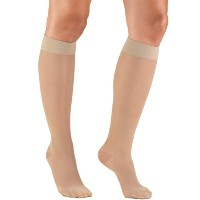 Truform 1773ND-L Womens LITES 15-20 mmHg Knee High Support Stockings - Size- Large, Color- Nude