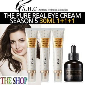 [A.H.C] ★T#★ 1+1+1 THE PURE REAL EYE CREAM FOR FACE SEASON 5 30ML*3EA / 低刺激アイクリーム / エステ化粧品 / 送料無料