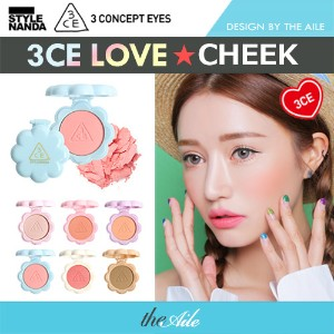 [3CE / STYLENANDA]  NEW ★ LOVE COLLECTION CHEEK MAKER /  CUSHION / SHADOW / LIPSTICK / MIRROR