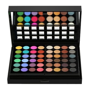 ANSELF 78 Colors Professional Makeup Palette Set Double-Deck Eyeshadow Lip Gloss Concealer Blusher W