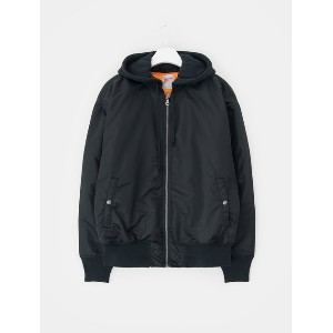8SECONDS Oversize Hood MA-1 Bomber Jacket - Black