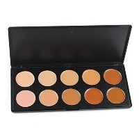 (メイクアップセット) RoseFlower Pro 10 Colors Cream Concealer Makeup Palette Cosemetic Contouring Kit - Ideal