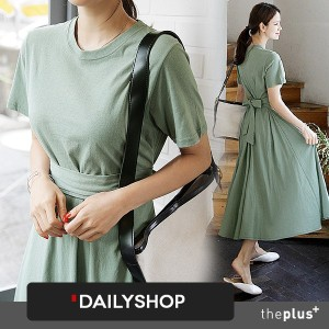 ★dailyshop★ KOREA BESTSELLERS ★ Back Ribbon Point Dress / Long . Maxi style Dress / Korea  Fashion