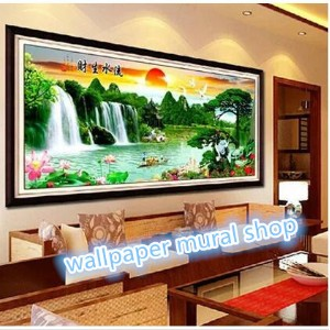 DIY Full Drill Magic Square Diamond painting cross stitch Wall painting The Landscape Painting...
